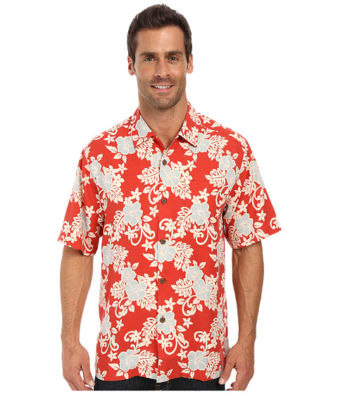Tommy Bahama - Baja Blooms Camp Shirt (Red Hot) Men