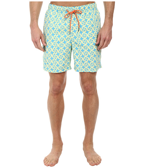 Tommy Bahama - Naples Tidal Tile 6 Swim Trunks (Arroyo Blue) Men