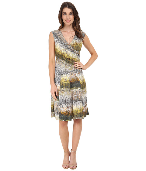 NIC+ZOE - Etch A Sketch Dress (Multi) Women