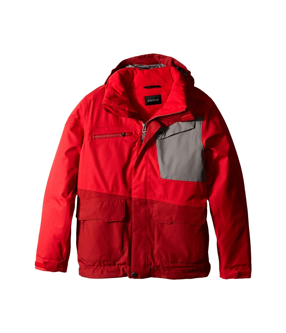 Marmot Kids - Boy's Space Walk Jacket (Little Kids/Big Kids) (Team Red/Dark Crimson) Boy's Jacket