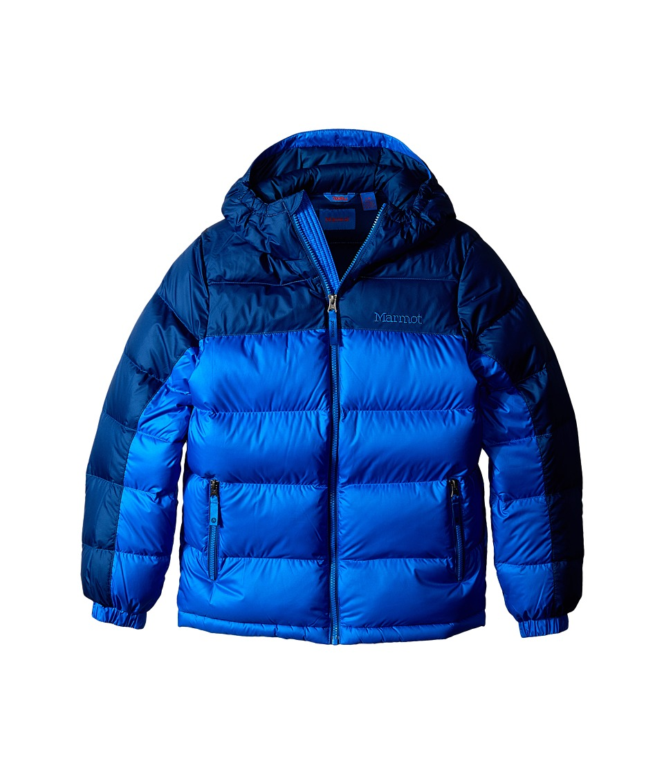 Marmot Kids - Guides Down Hoody (Little Kids/Big Kids) (Cobalt Blue/Blue Night) Boy's Coat