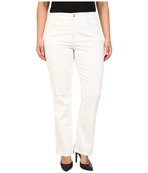 NYDJ Plus Size - Plus Size Billie Mini Bootcut in Optic White (Optic White) Women's Jeans