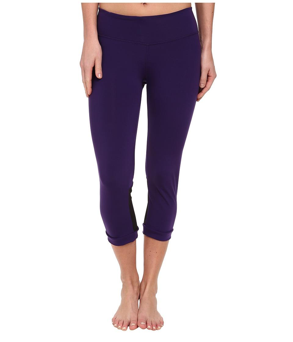 COZY ORANGE - Aquarius Crops (Majestic Purple/Raven Black) Women's Workout