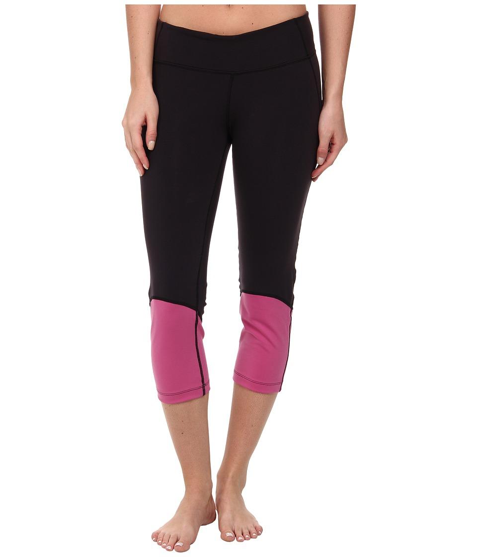 COZY ORANGE - Hanna Crops (Raven Black/Plum Burst) Women's Workout plus size,  plus size fashion plus size appare