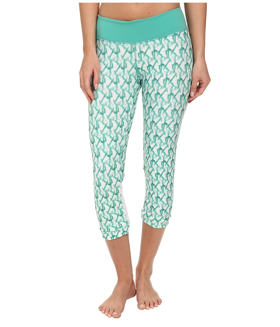 COZY ORANGE - Aquarius Crops (Glacier Green/Optic White) Women