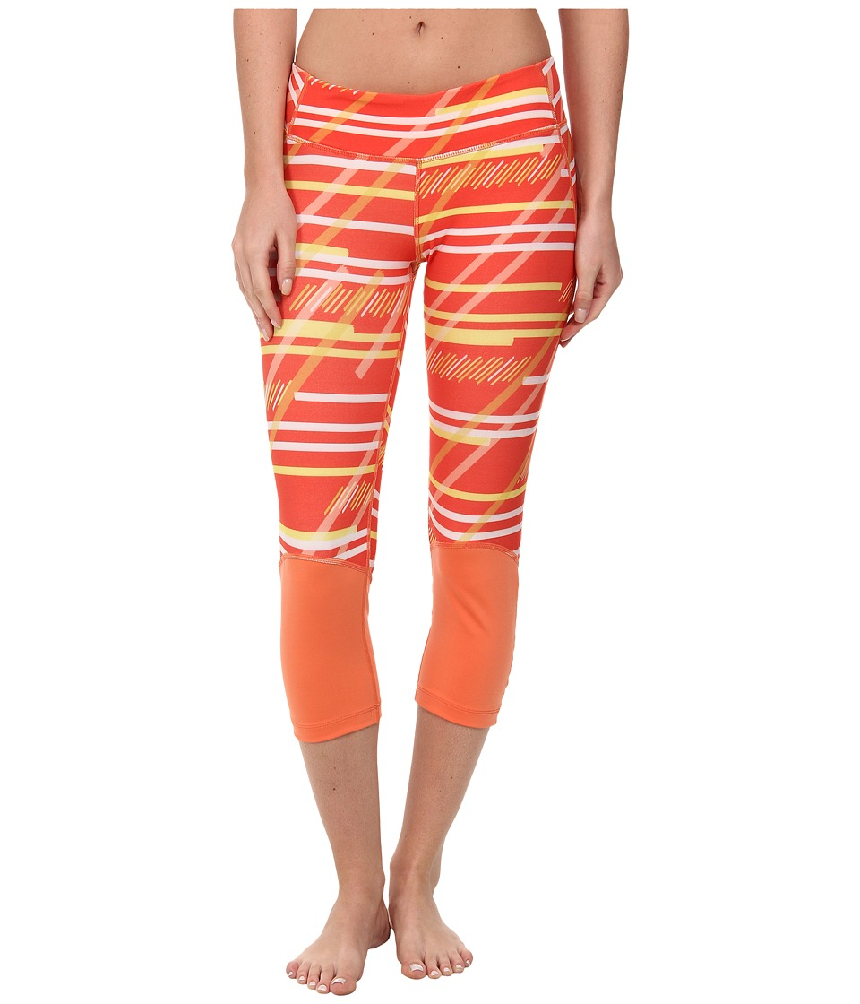 COZY ORANGE - Hanna Crops (Serenity Stripe/Papaya) Women