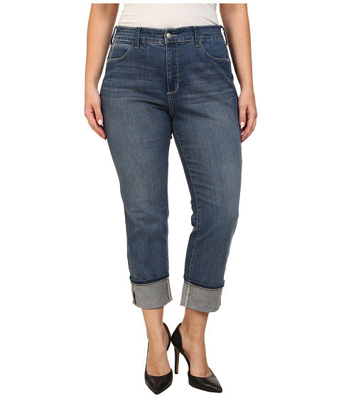 NYDJ Plus Size - Plus Size Lorena Skinny Boyfriend Capri in Heyburn (Heyburn) Women's Jeans