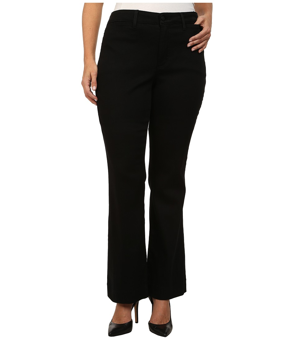 NYDJ Plus Size - Plus Size Michelle Trouser - Slick Twill (Black) Women's Casual Pants