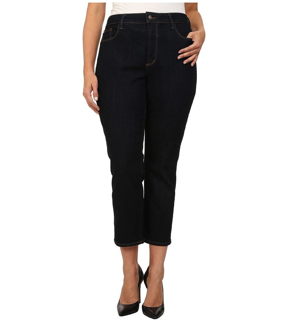 NYDJ Plus Size Plus Size Alina Ankle in Dark Enzyme (Dark Enzyme) Women's Jeans
