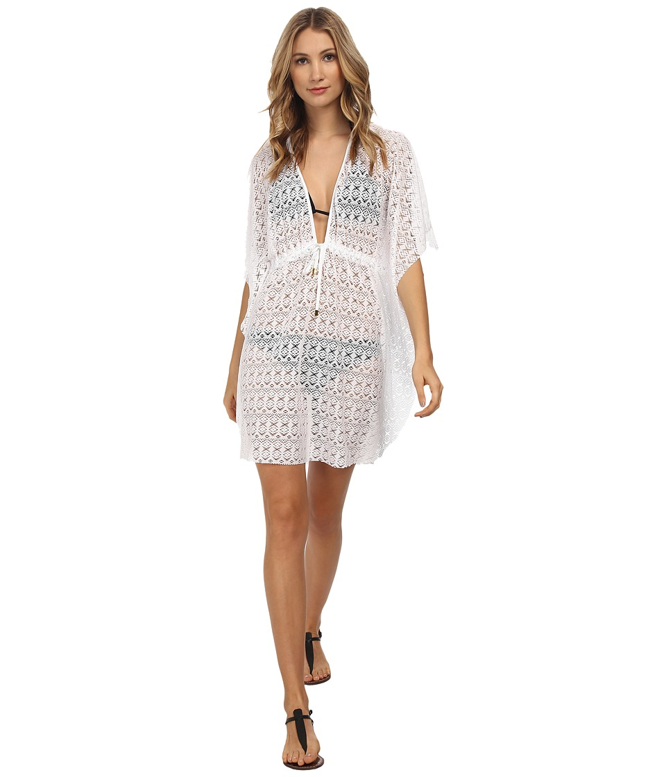 Bleu Rod Beattie - Crochet Caftan Cover-Up (White) Women's Swimwear