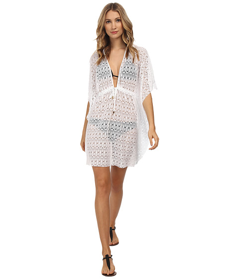 Bleu Rod Beattie - Crochet Caftan Cover-Up (White) Women