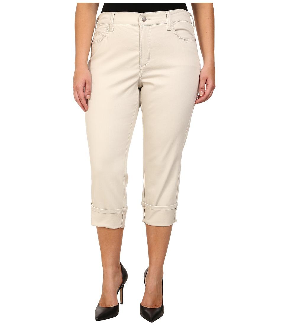 NYDJ Plus Size - Plus Size Dayla Wide Cuffed Capri (Clay) Women
