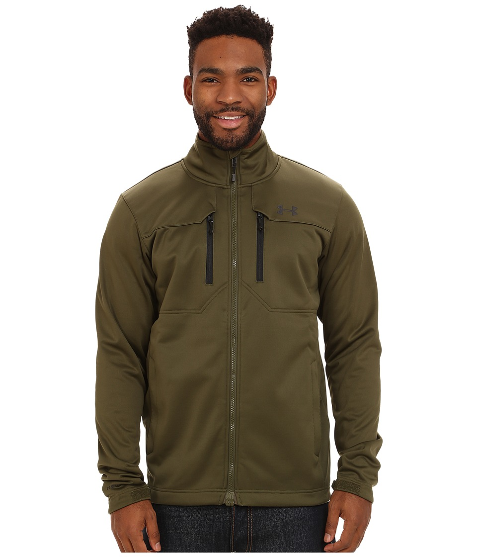 Under Armour - UA Coldgear Infrared Softershell Jacket (Greenhead) Men's Jacket