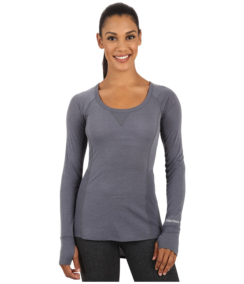 Marmot - Helen L/S (Steel Onyx) Women's Clothing