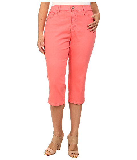 NYDJ Plus Size - Plus Size Ariel Crop Eyelet (Bright Melon) Women