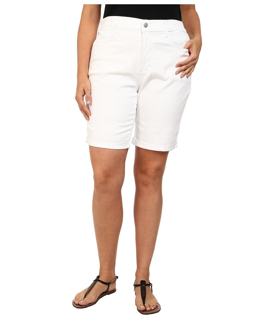 NYDJ Plus Size - Plus Size Briella Short (Optic White) Women's Shorts plus size,  plus size fashion plus size appare