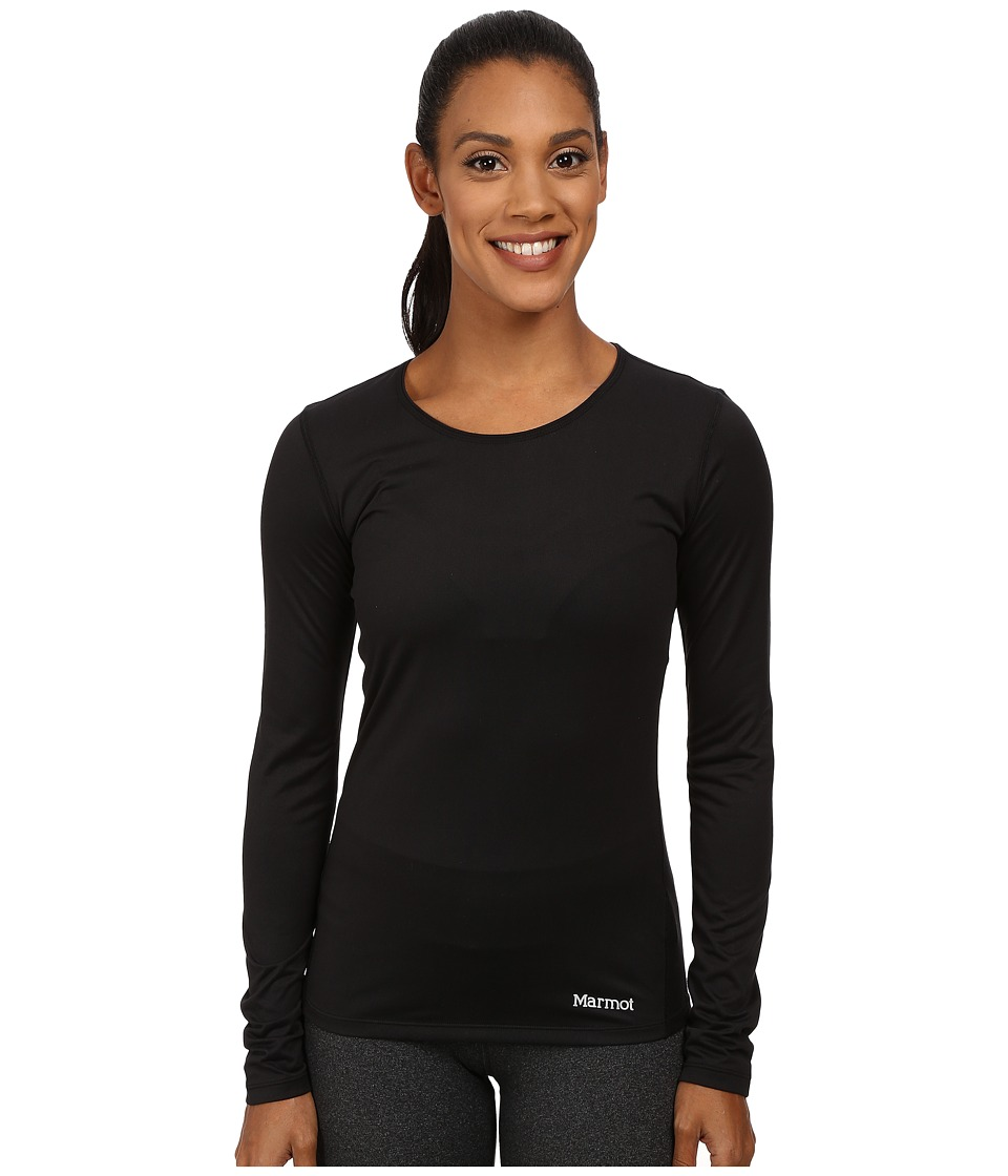 Marmot - Essential Long Sleeve (Black) Women's Long Sleeve Pullover