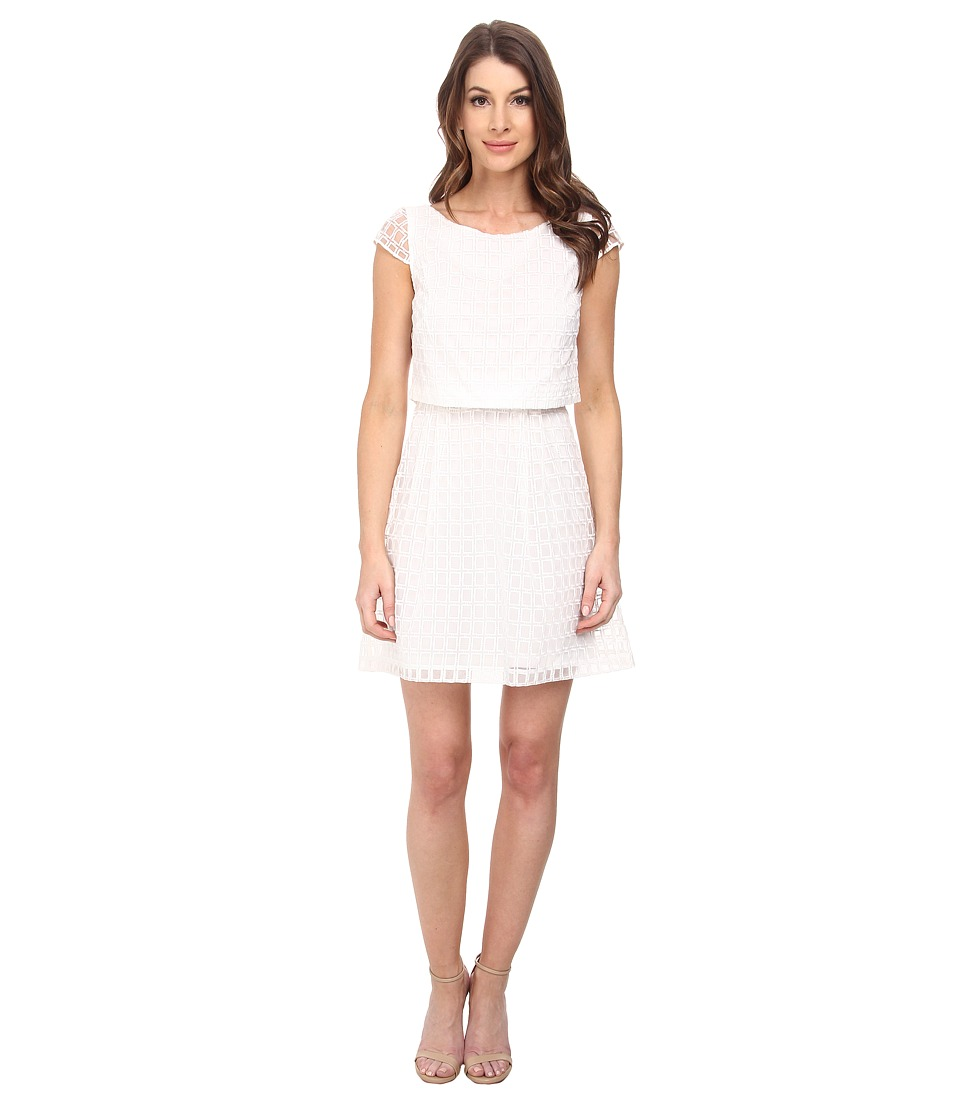 Jessica Simpson - Two-Piece Fit and Flare Dress (White) Women