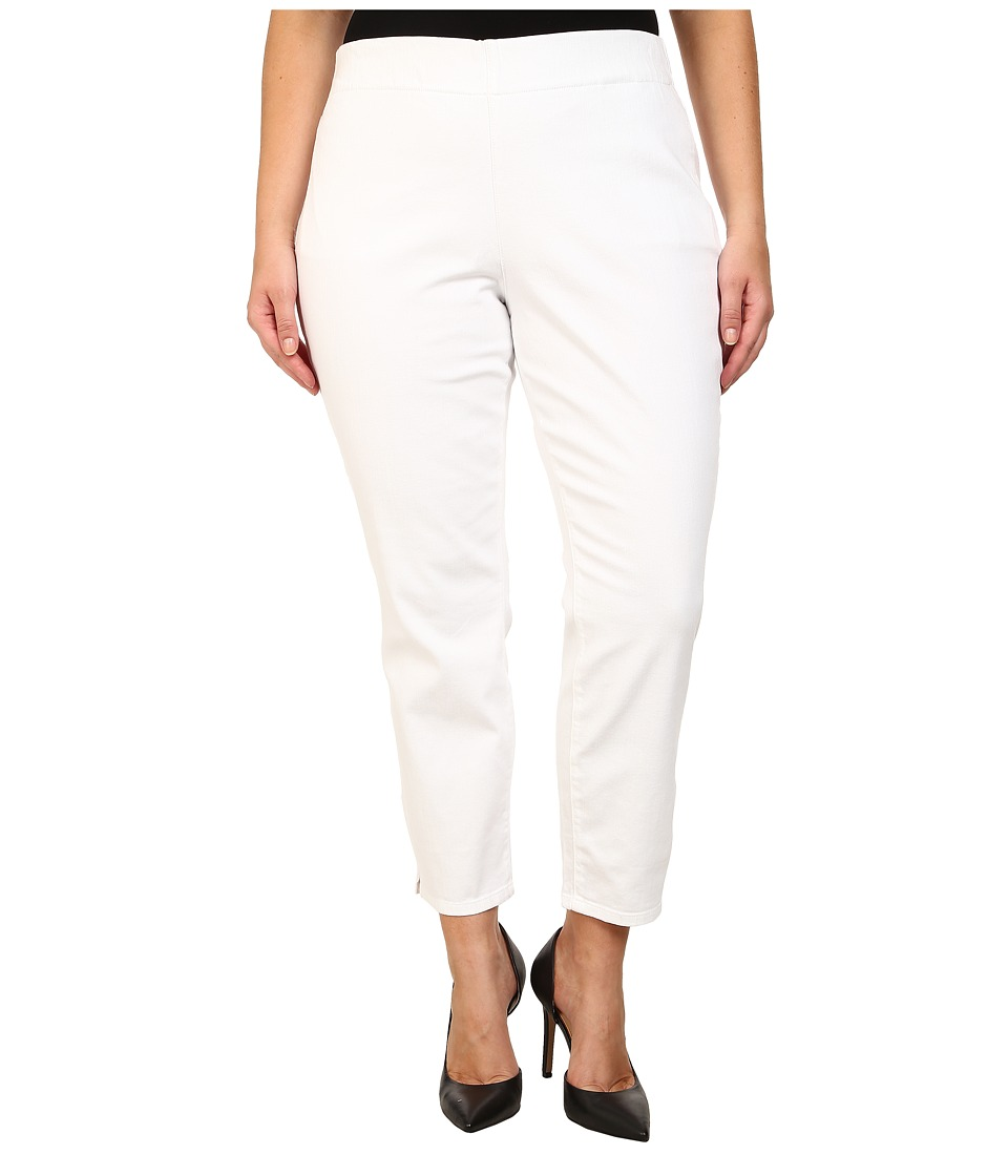 NYDJ Plus Size - Plus Size Millie Ankle Pant (White) Women's Casual Pants
