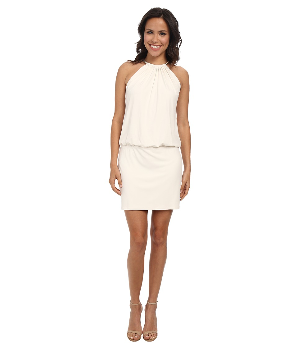 Jessica Simpson - Bungee Necklace Blouson Dress (Ivory) Women's Dress