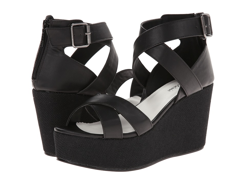 Michael Antonio - Gem (Black) Women's Wedge Shoes