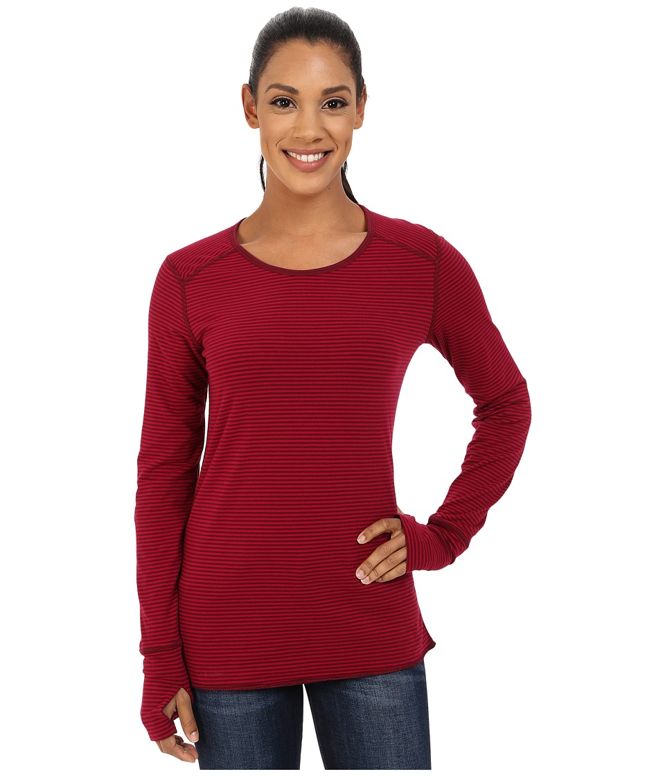 Marmot - Hannah Reversible LS (Berry Wine) Women's Long Sleeve Pullover