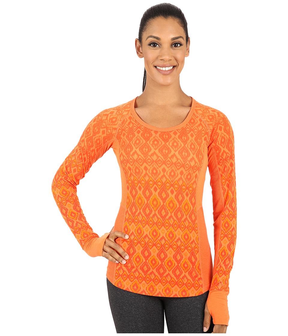 Marmot - Gabby Long Sleeve (Orange Coral) Women's Long Sleeve Pullover