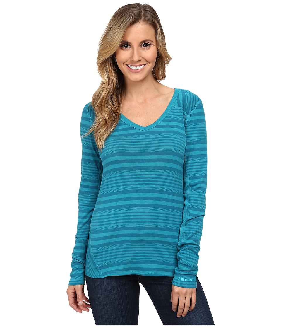 Marmot - Julia Long Sleeve (Ocean) Women's Long Sleeve Pullover