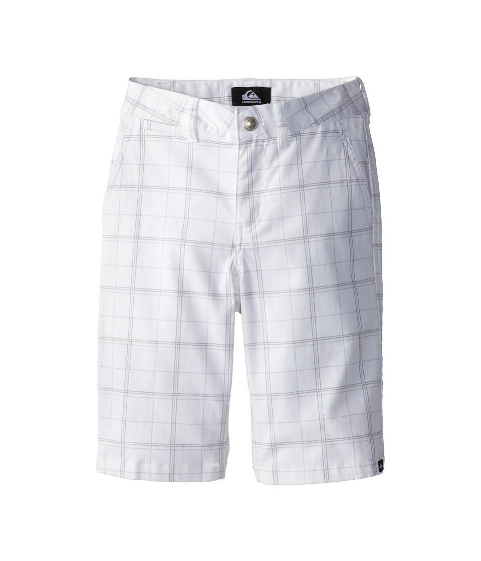 Quiksilver Kids - Union Surplus Short (Big Kids) (White) Boy's Shorts