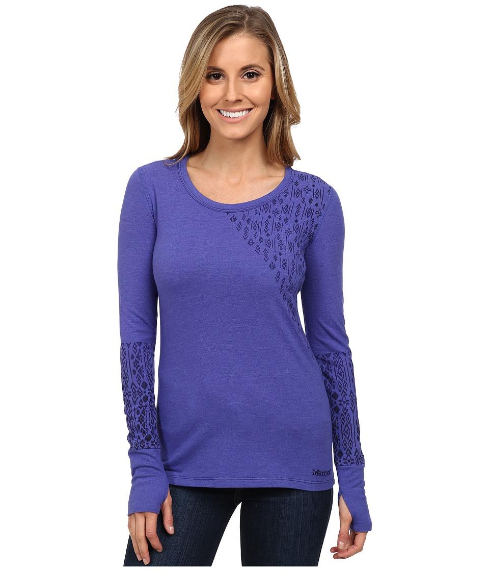 Marmot - Kourtney Long Sleeve Top (Gemstone) Women's Long Sleeve Pullover