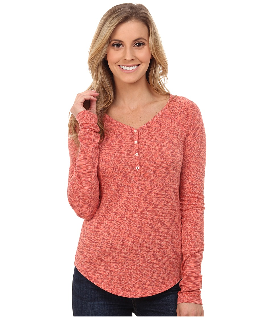 Marmot - Mackenzie Henley Long Sleeve (Bright Rust) Women's Long Sleeve Pullover