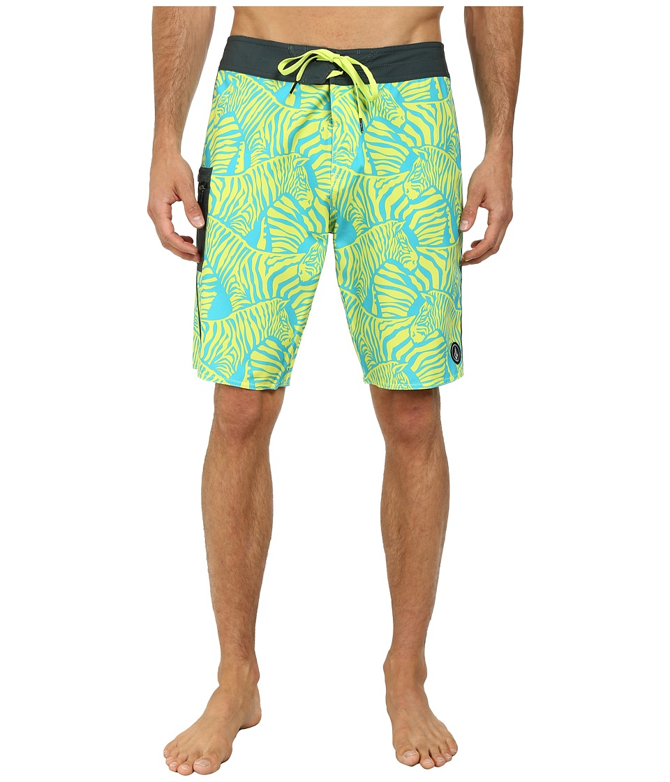 Volcom - Zee Brah Boardshort (Lime) Men's Swimwear