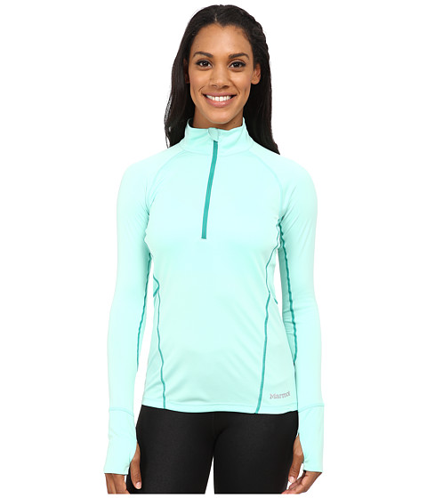 Marmot - Interval Half-Zip Long Sleeve (Ice Green/Green Garnet) Women's Long Sleeve Pullover