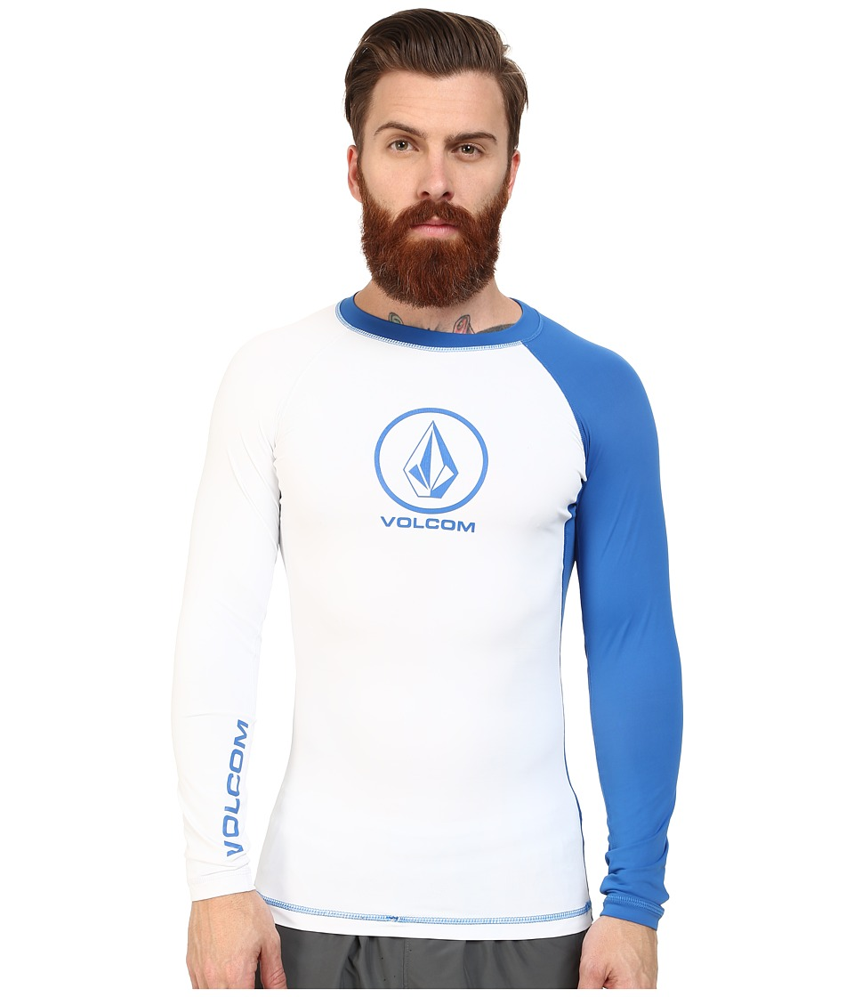 Volcom - Colorblock L/S Rashguard (White) Men's Swimwear
