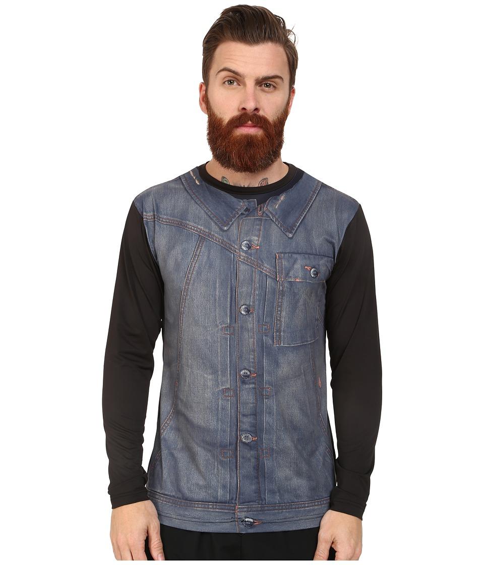 Volcom Metal Vest Long Sleeve Rashguard (Black) Men
