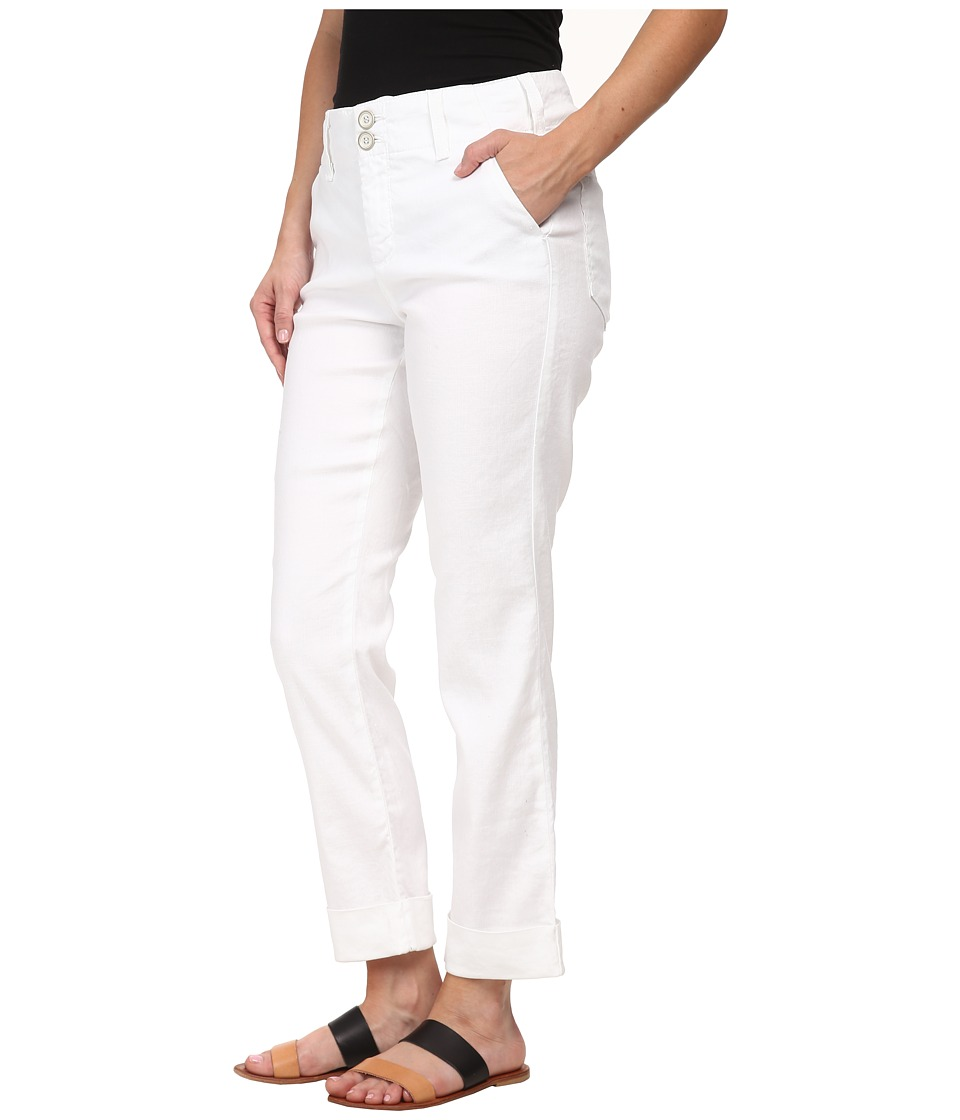 NYDJ Petite - Petite Leann Boyfriend in Optic White (Optic White) Women's Jeans