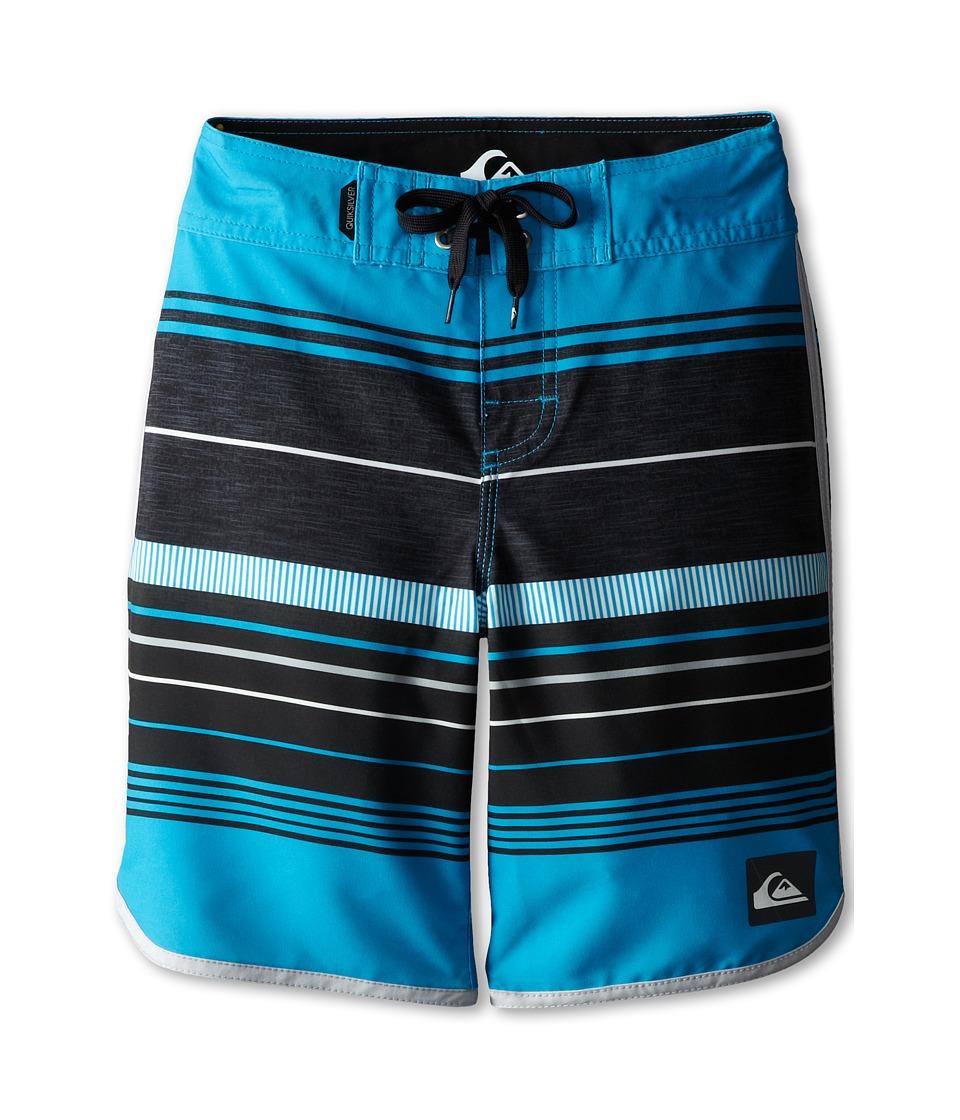 Quiksilver Kids - Pacific Stripe Boardshort (Big Kids) (Hawaiian Ocean) Boy