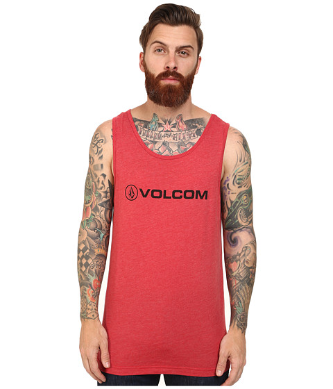 Volcom - New Style Tank (Drip Red Heather) Men's Sleeveless