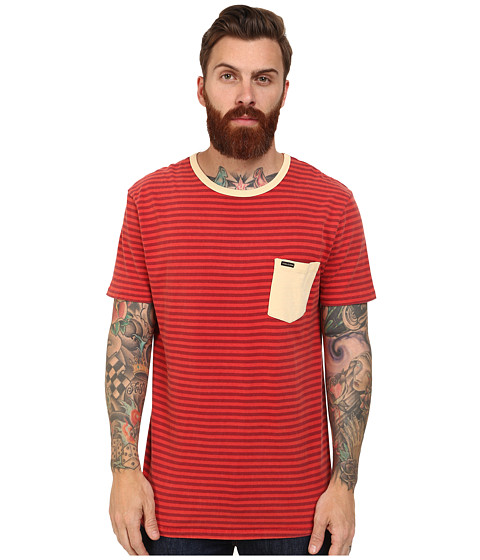 Volcom - Gilford Crew (Drip Red) Men