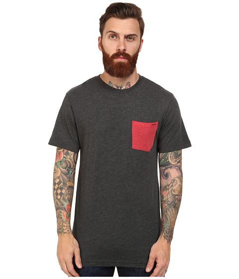 Volcom - Summer Switch Pocket Tee (Heather Black) Men's T Shirt