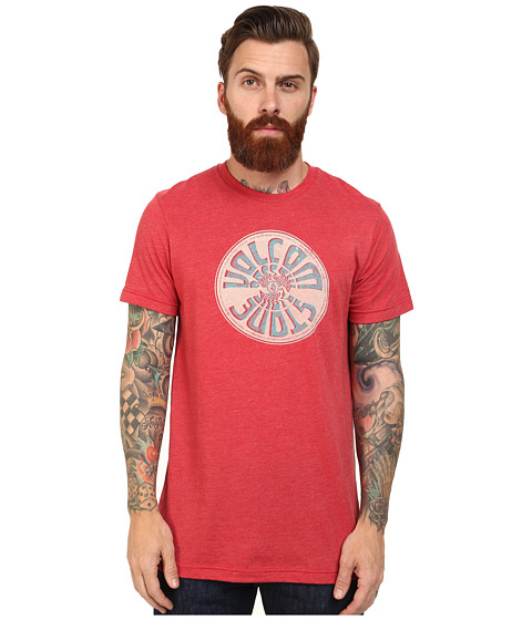Volcom - Wax On Tee (Drip Red) Men's T Shirt