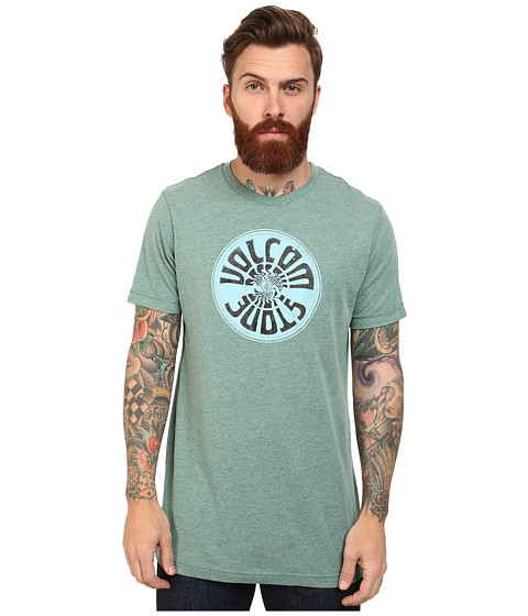 Volcom - Wax On Tee (Grass Green Heather) Men