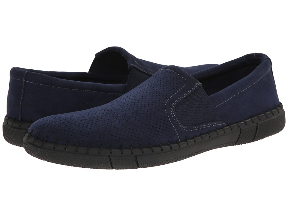 Robert Wayne - Road (Navy) Men's Slip on Shoes