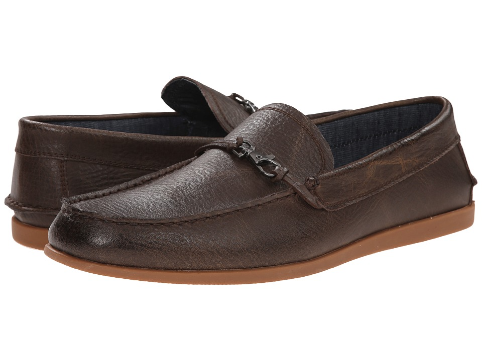 Robert Wayne - Akira (Textured Brown) Men's Slip on Shoes
