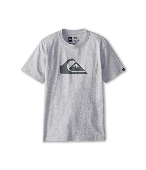 Quiksilver Kids - Everyday Logo Core Tee (Big Kids) (Grey Heather) Boy