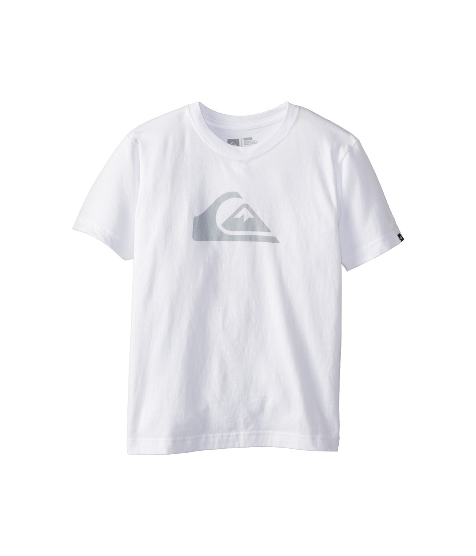 Quiksilver Kids - Everyday Logo Core Tee (Big Kids) (White) Boy's Short Sleeve Pullover