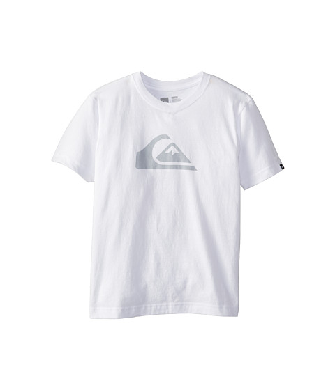 Quiksilver Kids - Everyday Logo Core Tee (Big Kids) (White) Boy
