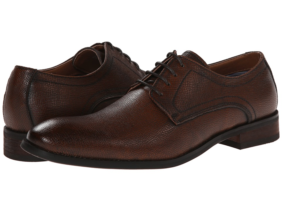 Robert Wayne - Duff (Rust Saffiano) Men's Lace up casual Shoes