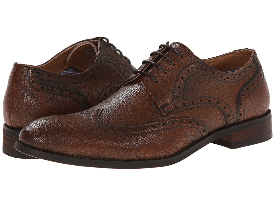 Robert Wayne - Nile (Rust Saffiano) Men's Lace up casual Shoes