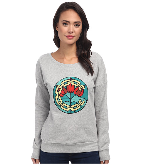Crooks & Castles - Knit Sweatshirt - Hood Pope (Heather Grey) Women